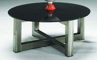 Johnston Titan Large Cocktail Table: Clear, Black or Red Glass