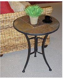4D Concepts Slate Round End Table