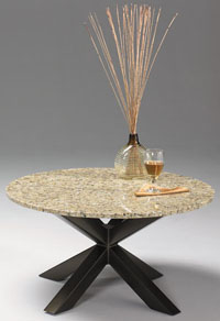 Johnston Diva Small Cocktail Table: Giallo or Impala Granite