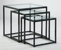 Johnston Cubic Nesting End Tables 3/8 Glass