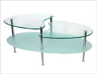 "Walker Edison 38"" Mariner Oval Coffee Table"