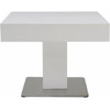 24 Inch Square End Table - Matte White