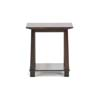 Baxton Studio Havana Brown Wood Modern End Table