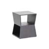 Baxton Studio Marche Black Wood Modern End Table