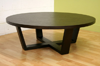 Baxton Studio Tilly Black-Stained Oak Round Table