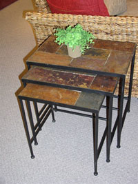 4D Concepts 3 Piece Slate Nesting Tables