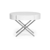 Baxton Studio Coquille White Modern Oval Coffee Table with Drawer