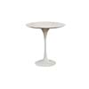 Baxton Studio Immer White Marble Mid-Century Style End Table